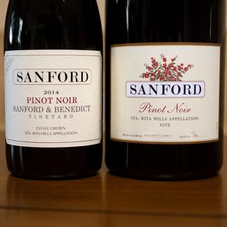 Sanford Winery 2013 Sta. Rita Hills Pinot Noir Magnum 750ml Wine Label
