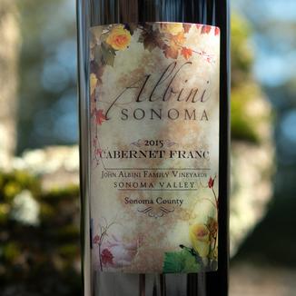 Albini Sonoma 2015 Sonoma County Cabernet Franc 750ml Wine Label