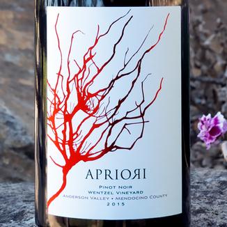 Apriori Cellar 2015 Anderson Valley Wentzel Vineyard Pinot Noir 750ml Wine Label