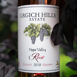 Grgich Hills Estate 2018 Grgich Hills Estate Rose 750ml Wine Label