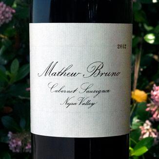 Mathew Bruno 2012 Napa Valley Cabernet Sauvignon 750ml Wine Label