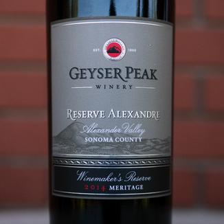 "Geyser Peak Winery 2014 ""Reserve Alexandre"" Alexander Valley Sonoma County Meritage 750ml Wine Label"