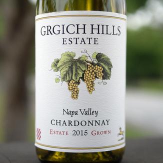 Grgich Hills Estate 2015 Napa Valley Estate Grown Chardonnay 750ml Wine Label