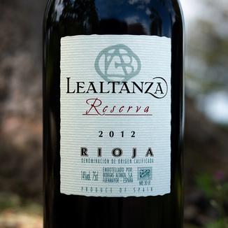 Bodegas Altanza 2012 Lealtanza Rioja Reserva 750ml Wine Label