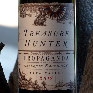 Kitfox Vineyards 2017 Treasure Hunter Propaganda Cabernet Sauvignon 750ml Wine Label