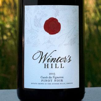 "Winter's Hill 2015 ""Cuvée du Vigneron"" Dundee Hills Pinot Noir 750ml Wine Label"