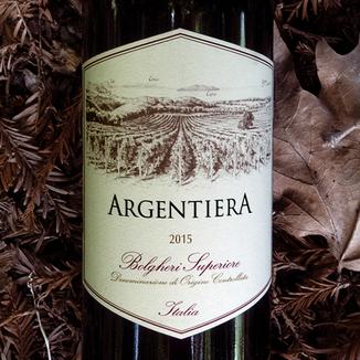 """Tenuta Argentiera 2015 """"Argentiera"""" Bolgheri Superiore 750ml Wine Label"""