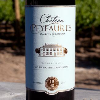Château Peyfaures 2015 Bordeaux Supérieur AOC 750ml Wine Bottle