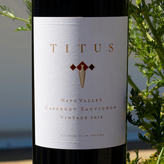 Titus Vineyards 2016 Napa Valley Cabernet Sauvignon 750ml Wine Label