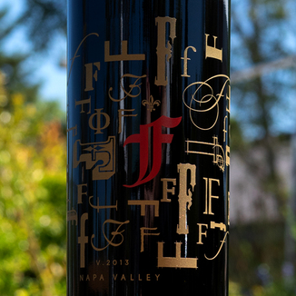 "Fleury Estate 2013 ""The F in Red"" Rutherford Proprietary Red 750ml Wine Label"
