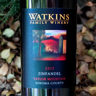 Watkins Family Winery 2015 Taylor Mountain Sonoma County Zinfandel 750ml Wine Bottle