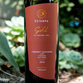 Estampa 2016 'Gold' Colchagua Valley Cabernet Sauvignon 750ml Wine Bottle