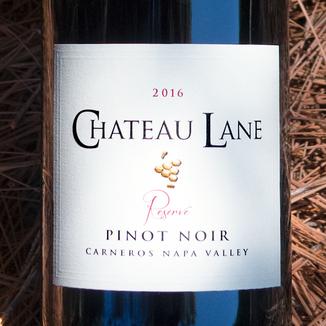 Chateau Lane 2016 Carneros Reserve Pinot Noir 750ml Wine Bottle