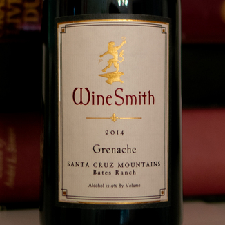WineSmith Wines 2014 Bates Ranch Santa Cruz Mountains Grenache 750ml Wine Bottle