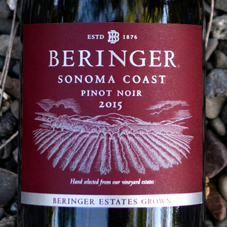 Beringer Vineyards 2015 Sonoma Coast Pinot Noir 750ml Wine Bottle