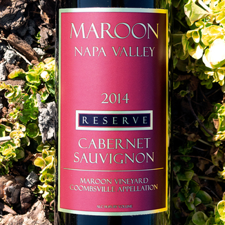 Maroon Wines 2014 'Maroon Vineyard' Coombsville Reserve Cabernet Sauvignon 750ml Wine Label