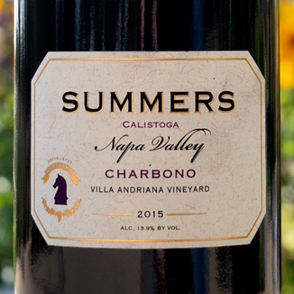 Summers Estate Wines 2015 Villa Adriana Vineyard Calistoga Charbono 750ml Wine Bottle