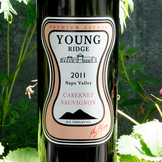 Young Ridge 2011 Premium Estate Napa Valley Cabernet Sauvignon 750ml Wine Label