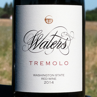 Waters 2014 'Tremolo' Columbia Valley Syrah & Grenache 750ml Wine Label