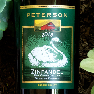 Peterson Winery 2013 Bernier Zineyard Dry Creek Valley Zinfandel 750ml Wine Label