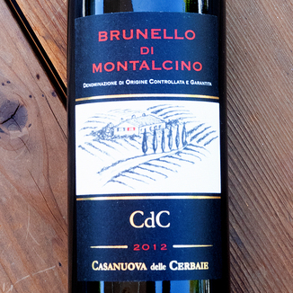 Casanuova delle Cerbaie 2012 Brunello di Montalcino DOCG 750ml Wine Bottle
