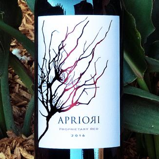 Apriori Cellar 2016 'Vin Rouge' Proprietary Red 750ml Wine Label