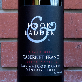 Hook & Ladder 2015 Los Amigos Ranch Chalk Hill Estate Cabernet Franc 750ml Wine Bottle