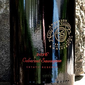 Anderson's Conn Valley 2016 Estate Reserve Napa Valley Cabernet Sauvignon 750ml Wine Label