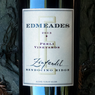 Edmeades 2013 'Perli Vineyards' Mendocino Ridge Zinfandel 750ml Wine Label