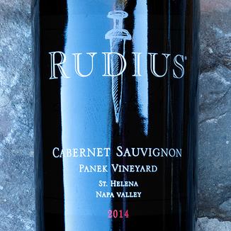 Rudius 2014 Panek Vineyard St. Helena Napa Valley Cabernet Sauvignon 750ml Wine Label