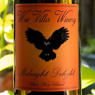 Wise Villa Winery 2017 'Midnight Delight' Clarksburg Chardonnay / Muscat 750ml Wine Label