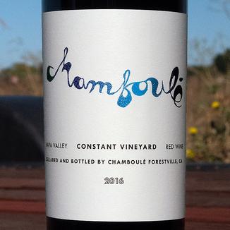 Chamboulé 2016 Constant Vineyard Diamond Mountain Red 750ml Wine Label
