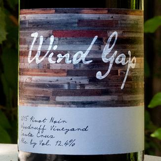 Wind Gap 2015 Woodruff Vineyard Santa Cruz Mountains Pinot Noir 750ml Wine Label