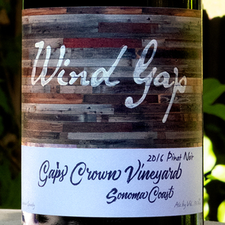 Wind Gap 2016 Gap's Crown Sonoma Coast Pinot Noir 750ml Wine Label