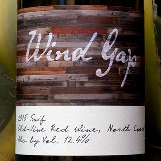Wind Gap 2015 'Soif' North Coast Old Vine Red 750ml Wine Label