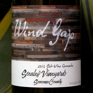 Wind Gap 2016 Sceales Vineyard Sonoma County Old-Vine Grenache 750ml Wine Bottle
