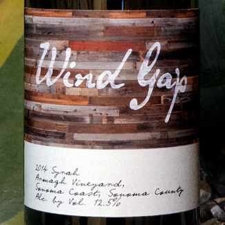Wind Gap 2014 Armagh Vineyard Sonoma Coast Syrah 750ml Wine Label