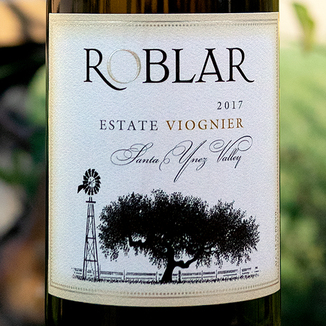 Roblar 2017 Estate Vineyard Santa Ynez Valley Viognier 750ml Wine Label