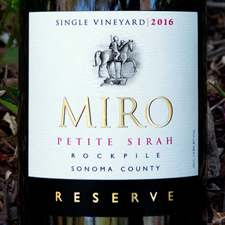 Miro Cellars 2016 Rockpile Vineyard Sonoma County Reserve Petite Sirah 750ml Wine Bottle