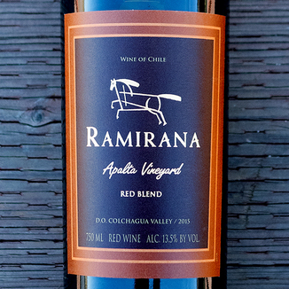 Ramirana 2015 Apalta Vineyard Colchagua Valley Cabernet Blend 750ml Wine Label