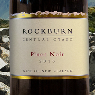 Rockburn Wines 2016 Central Otago Pinot Noir 750ml Wine Label