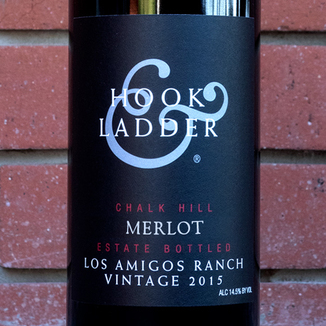 Hook & Ladder 2015 Los Amigos Ranch Chalk Hill Estate Merlot 750ml Wine Bottle
