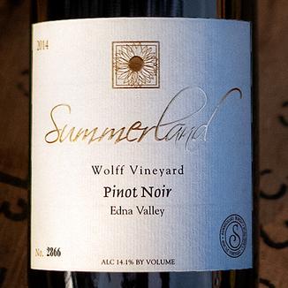 Summerland Winery 2014 Wolff Vineyard Edna Valley Pinot Noir 750ml Wine Label