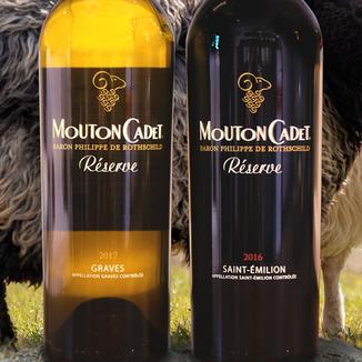 Baron Philippe de Rothschild 2016 Mouton Cadet Réserve Graves Blanc & St-Émilion 2 Pack 750ml Wine Label