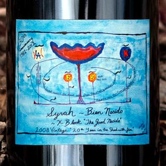 Qupé 2008 'X Block' The Good Nacido Syrah Magnum 750ml Wine Label