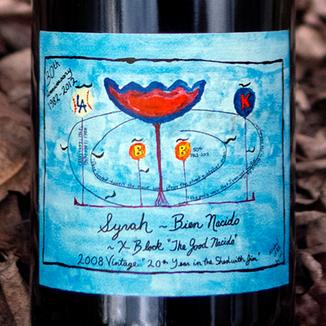 Qupé 2008 'X Block' The Good Nacido Syrah 750ml Wine Label