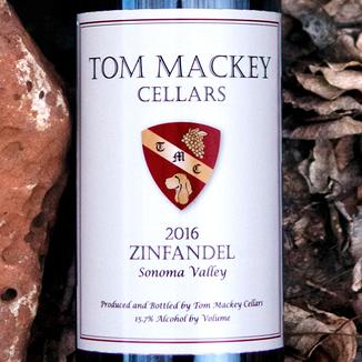 Tom Mackey Cellars 2016 Sonoma Valley Zinfandel 750ml Wine Label
