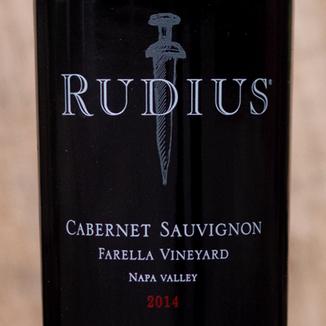 Rudius 2014 Farella Vineyard Coombsville Napa Valley Cabernet Sauvignon 750ml Wine Label