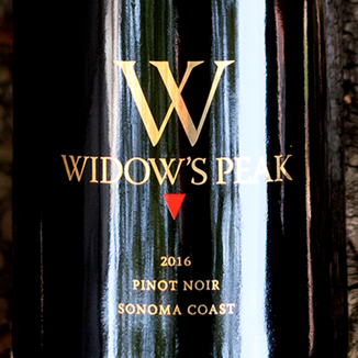 Beau Vigne 2016 'Widow's Peak' Sonoma Coast Pinot Noir 750ml Wine Label