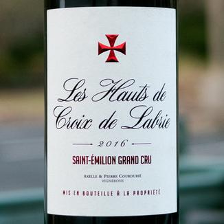 Château Croix de Labrie 2016 'Les Hauts de Croix de Labrie' St-Émilion Grand Cru AOC 750ml Wine Label